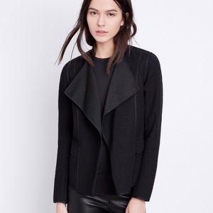 Vince Asymmetrical Boucle Black Jacket